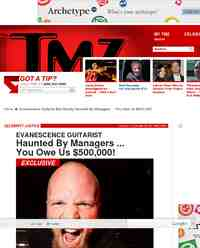 Evanescence Guitarist Ben Moody Haunted By Managers: TMZ.com